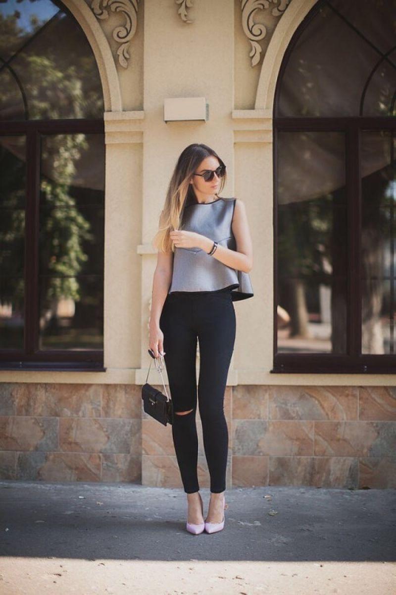 eff69403bf85b 21 Maneras de Vestir con Jeans y Tacones Altos o Botines - Muy buenas Ideas  - Moda