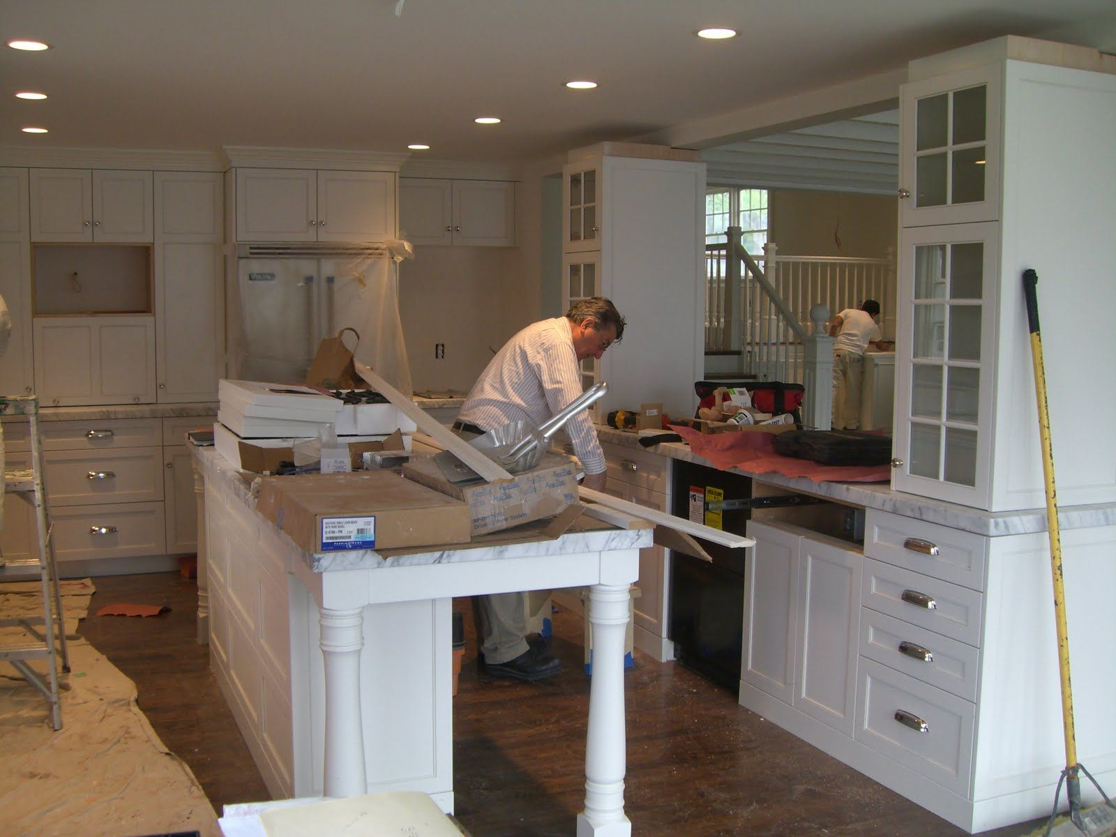 Molly Frey Design: Design Solution: Removing Kitchen Walls | For the on kitchen layout ideas google, kitchen island cabinets, kitchen with corner desk area, kitchen counter desk,