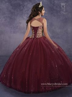 Mary's Bridal Princess Collection Quinceanera Dress Style 4Q496