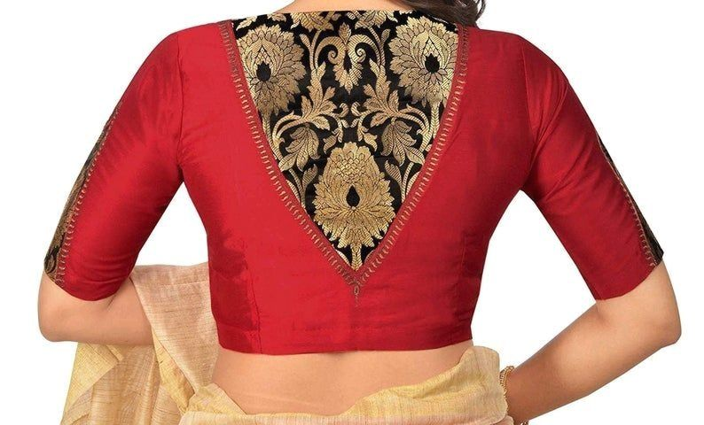 Designer red cotton silk blouse new indian designer readymade blouse for women w