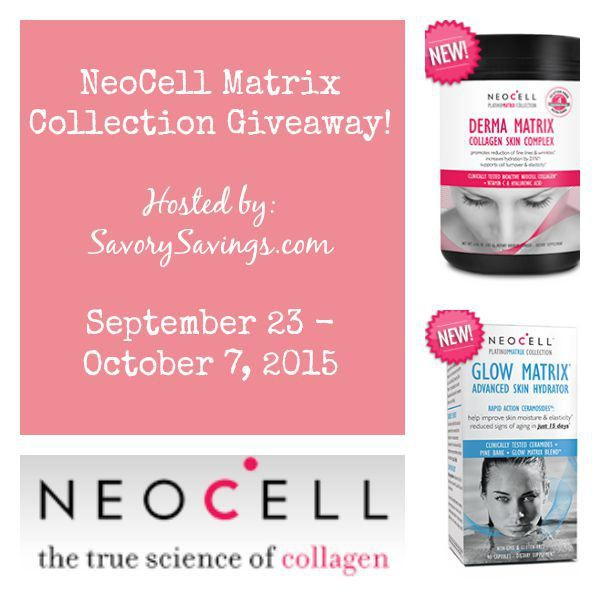 NeoCell Matrix Giveaway Sept 23 - Oct 7