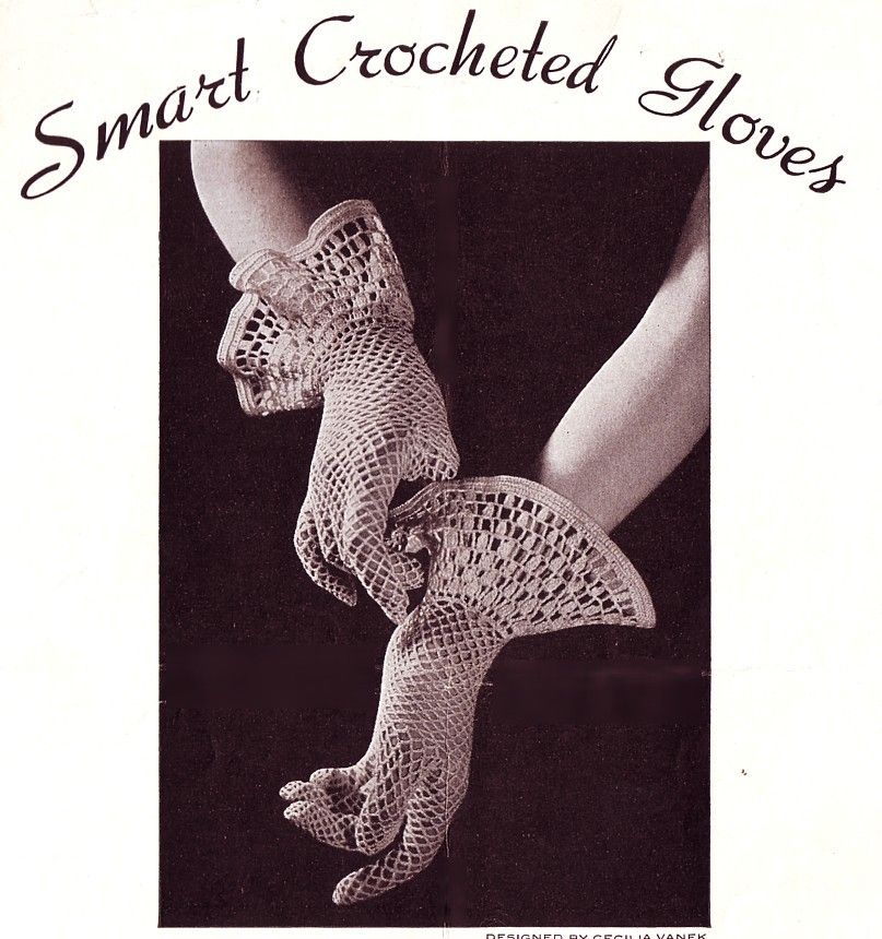 Vintage Crochet Gloves Pattern. | CROCHET: GUANTES | Pinterest ...