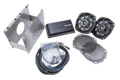 Kicker FHDESU96 Klock Werks Fit Kit Front Speaker/Amplifier Upgrade Kit for 1996 - 2013 Harley Davidson