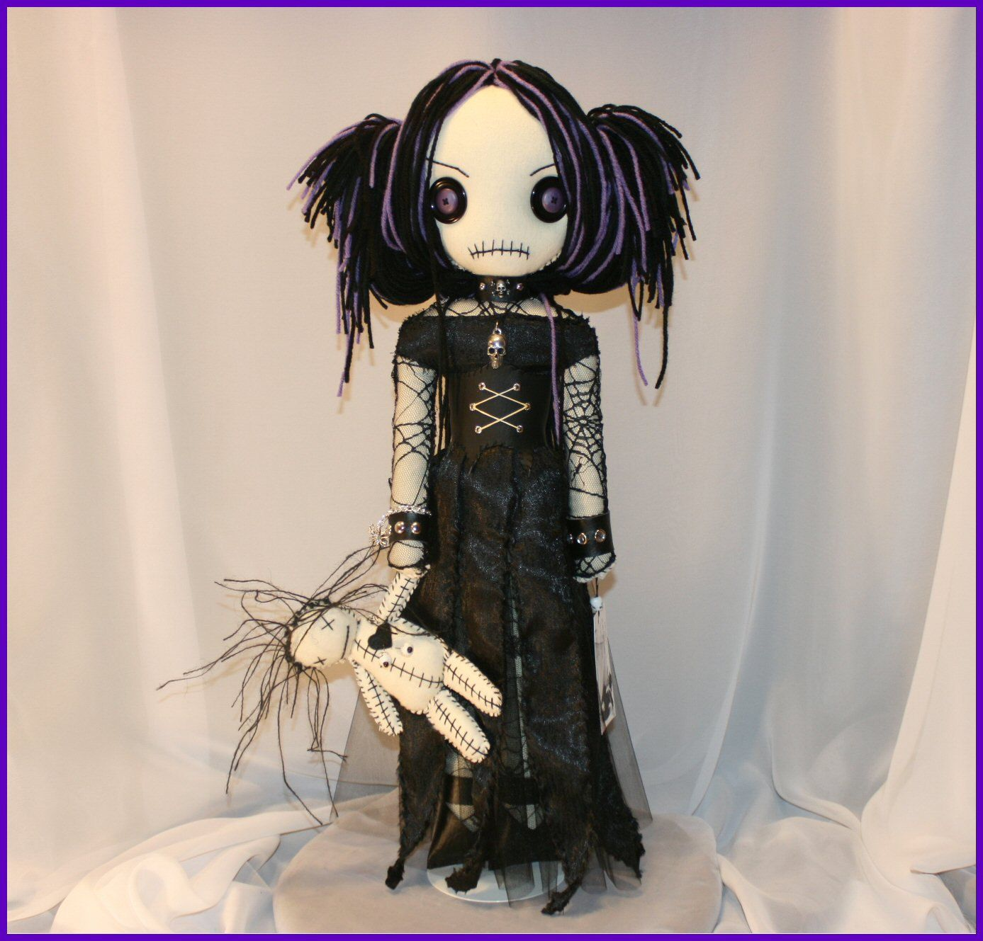 RESERVED LISTING for BARBRA Hand Stitched Rag Doll With Voodoo Dolly ...