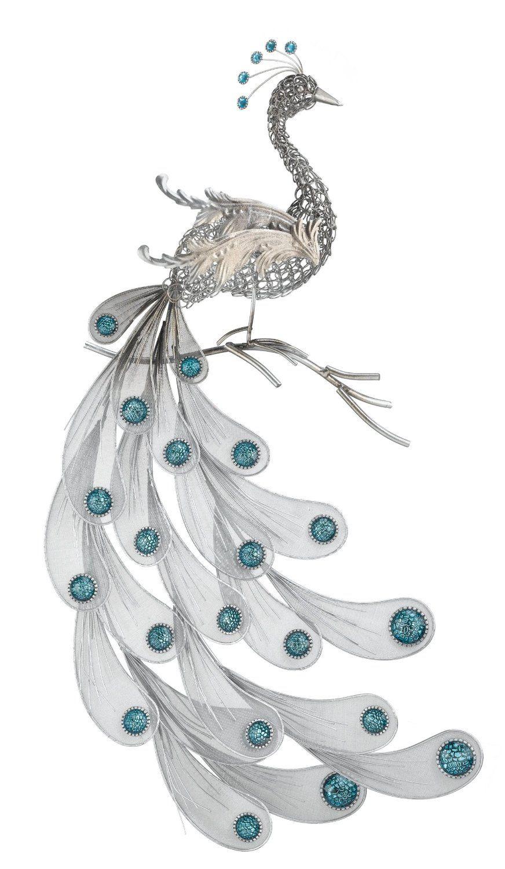 Amazon.com : Regal Art U0026 Gift Silver Peacock Wall Decor : Wall Sculptures :