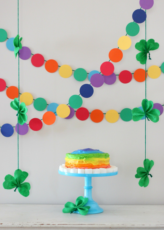 St. Patrick's Day Rainbow and Shamrock Decorations