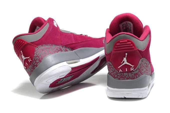 buy popular 4c995 d2047 Air Jordan Retro 4 para mujer Retro zapatos de color rojo oscuro y .