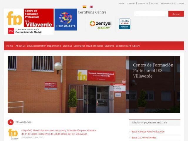 La Web Del Centro De Formación Profesional Ies Villaverde Ofrece Información Sobre La Oferta Educativa Lo Formacion Profesional Comunidad De Madrid Titulacion