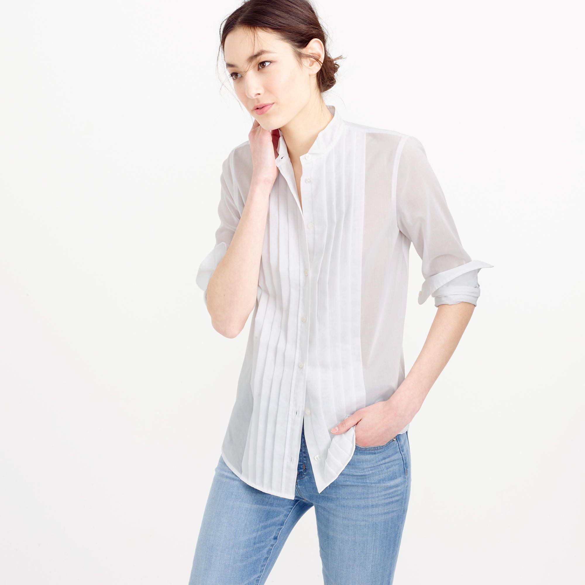 Collection Thomas Mason Tuxedo Shirt In Cotton Voile   Women s Shirts  87d3102044
