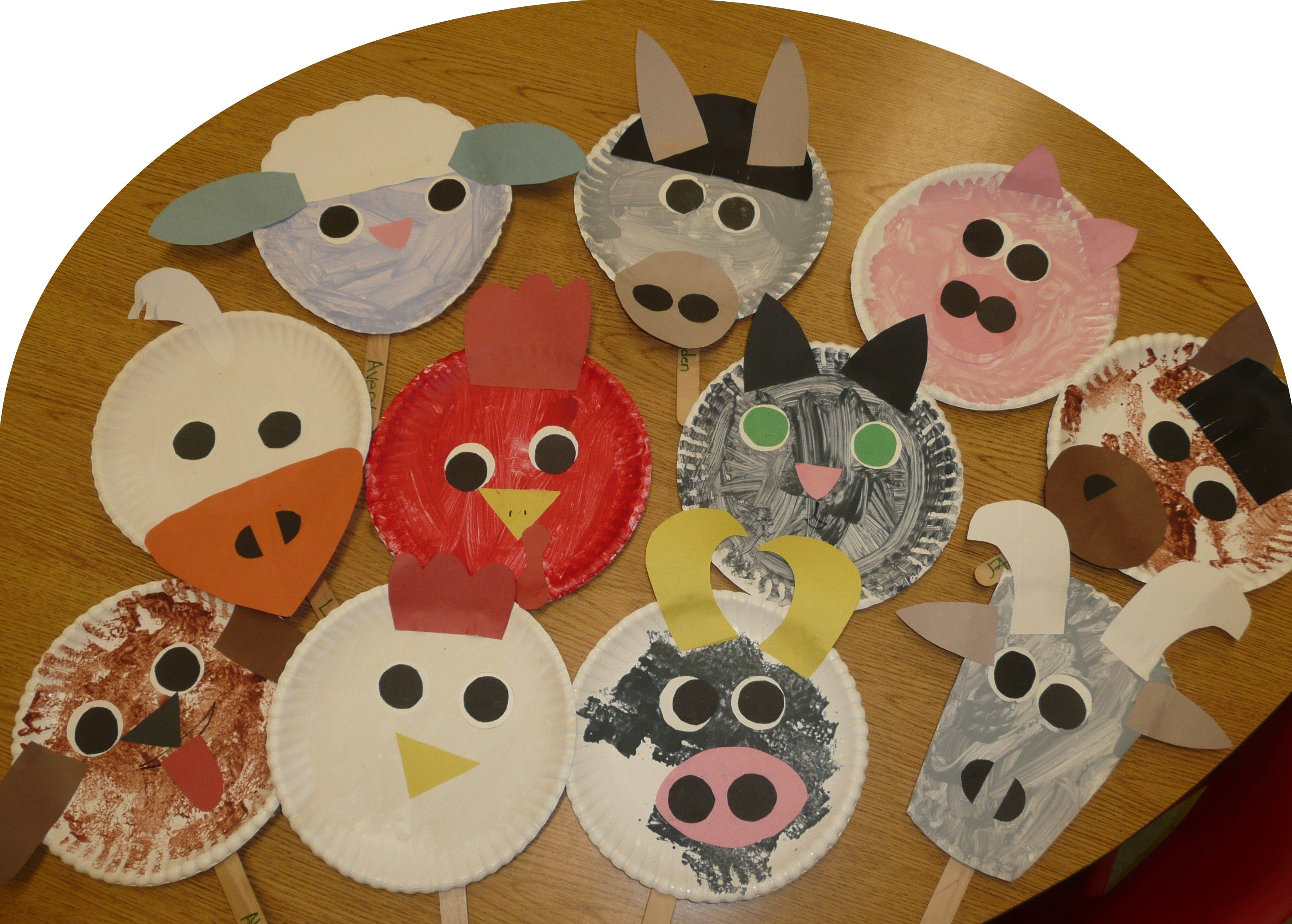 Paper Plate Farm Animals Using The Animals From The Big