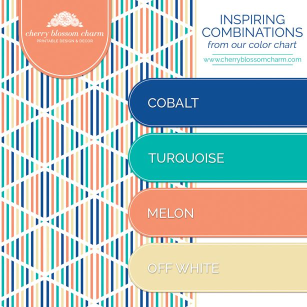 Color Combination color combinations | cobalt blue turquoise melon orange off white
