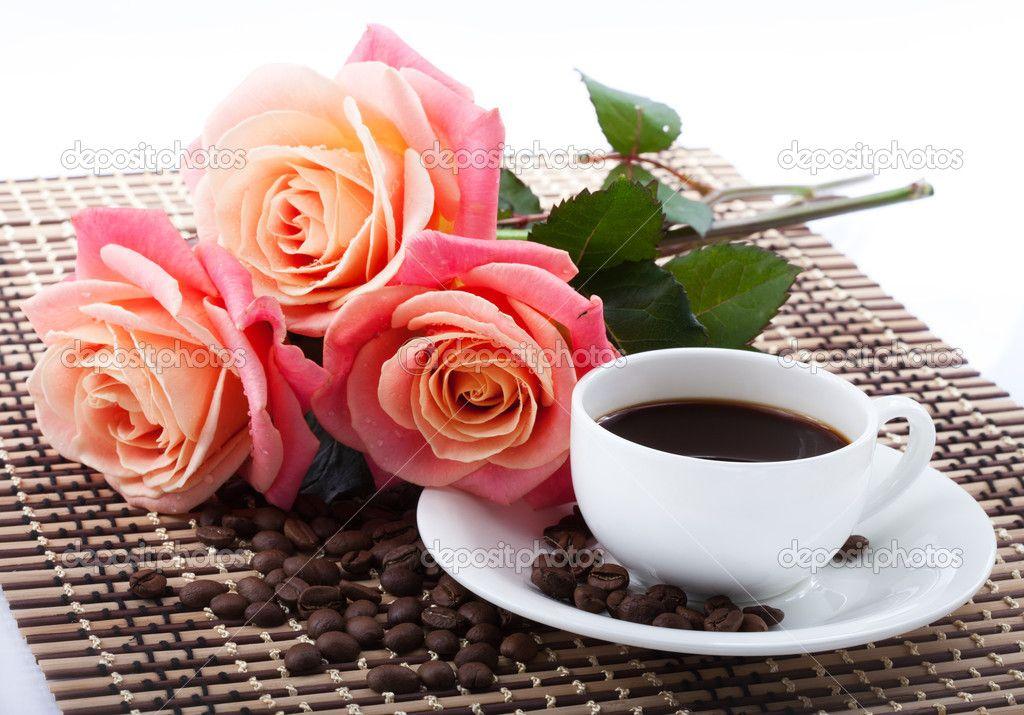 cafe e flores Pesquisa Google Mensagens legais, Café