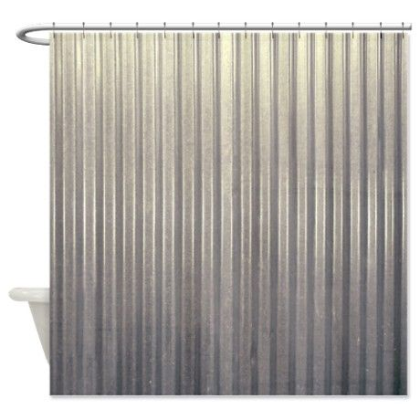Tin Shower Curtain On CafePress For Man Cave