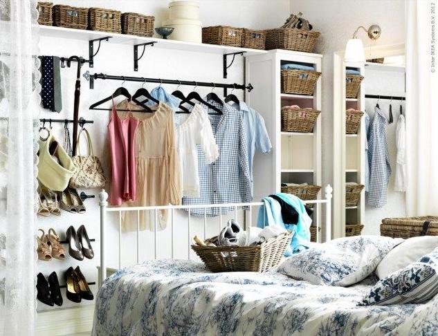 Small Space Living Inspiration No Closet Closet Small Bedroom Small Bedroom Storage Small House Hacks