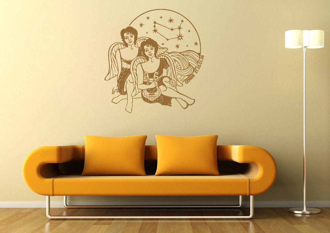 ik1410 Wall Decal Sticker Gemini zodiac sign bedroom living room ...