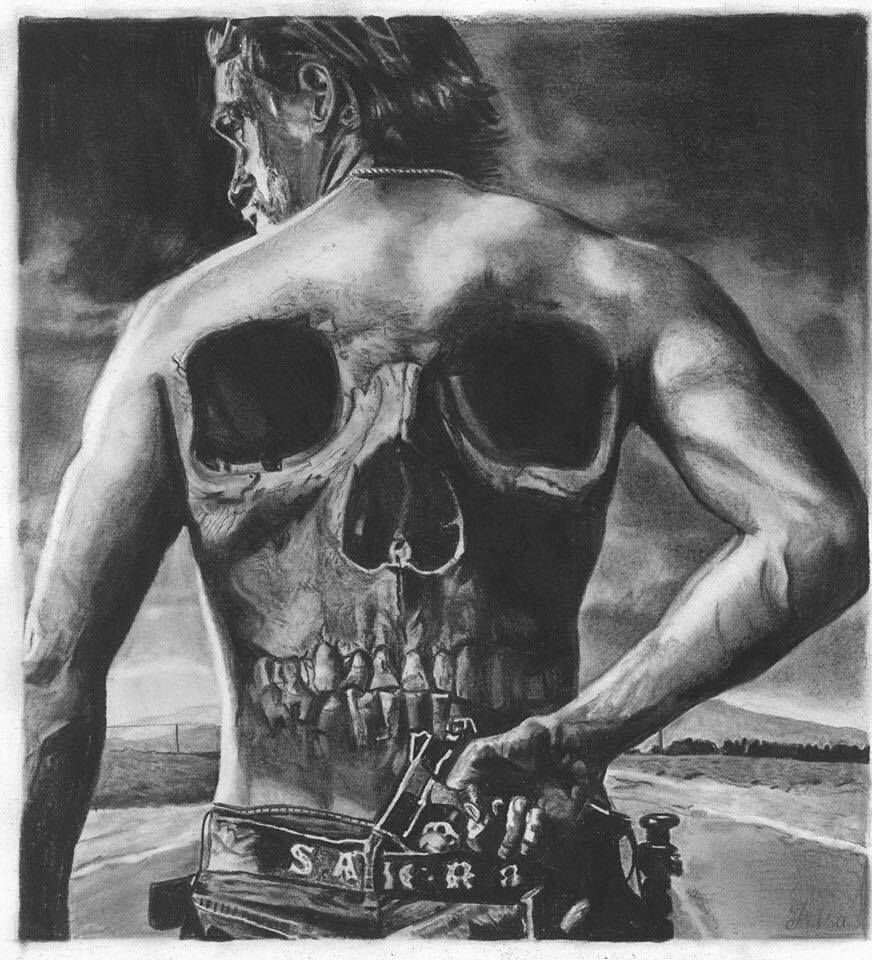 Amazing Graphite And Charcoal Drawing By Irisa W Sons Of Anarchy Anarchy Sons Of Anarchy Online