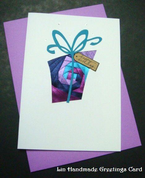 Lin Handmade Greetings Card: Iris folding