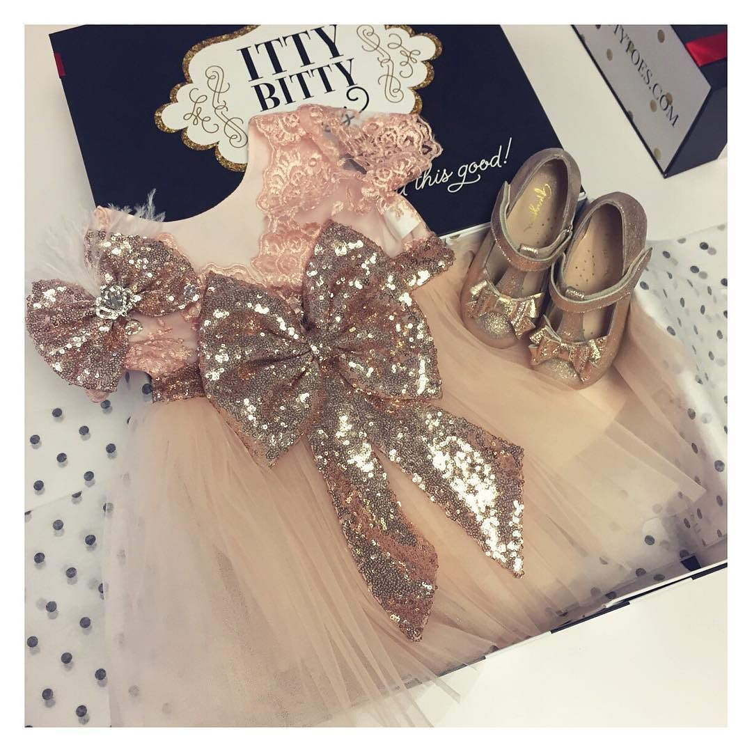 Custom Aisha Rose Gold Dress With Matching Shoes And Headpiece Shop