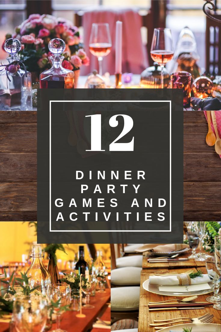 Create a wine tasting bar and italian dessert bar for easy entertaining. 12 Best Games and Ideas to Entertain at a Dinner Party in ...