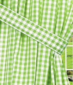 Lime Green Gingham Check Window Curtains Ok If I Can T Get Chevron Material Long Curtains Gingham Check