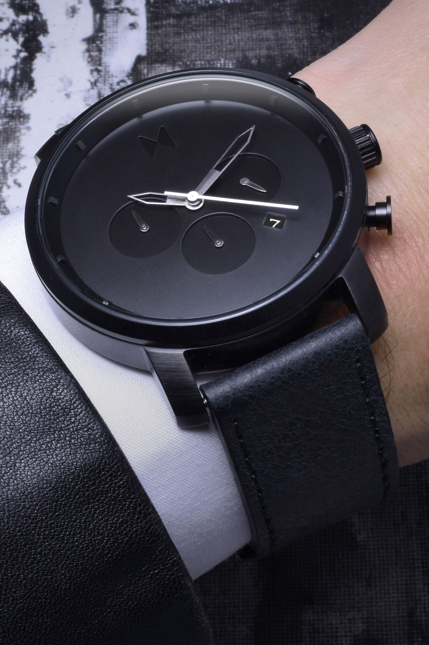 Chrono Black Leather | Watches - Watches for men, Hugo ...