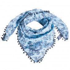 Blue Alprausch Scarf Damen Halstuch Und Hals