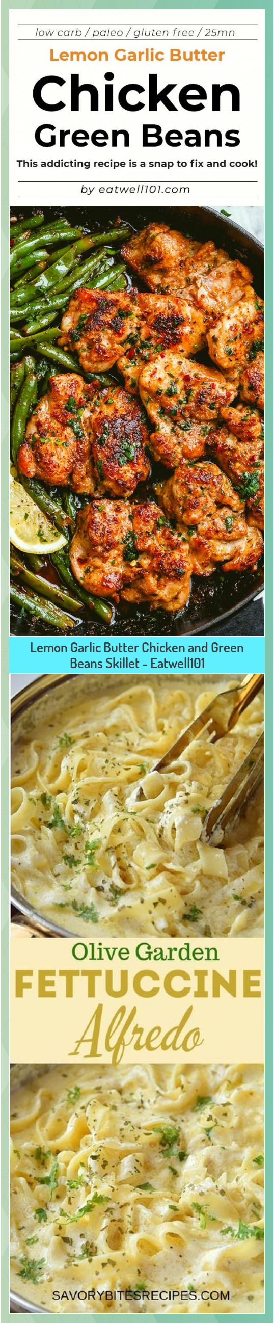 Lemon Garlic Butter Chicken and Green Beans Skillet  Eatwell101