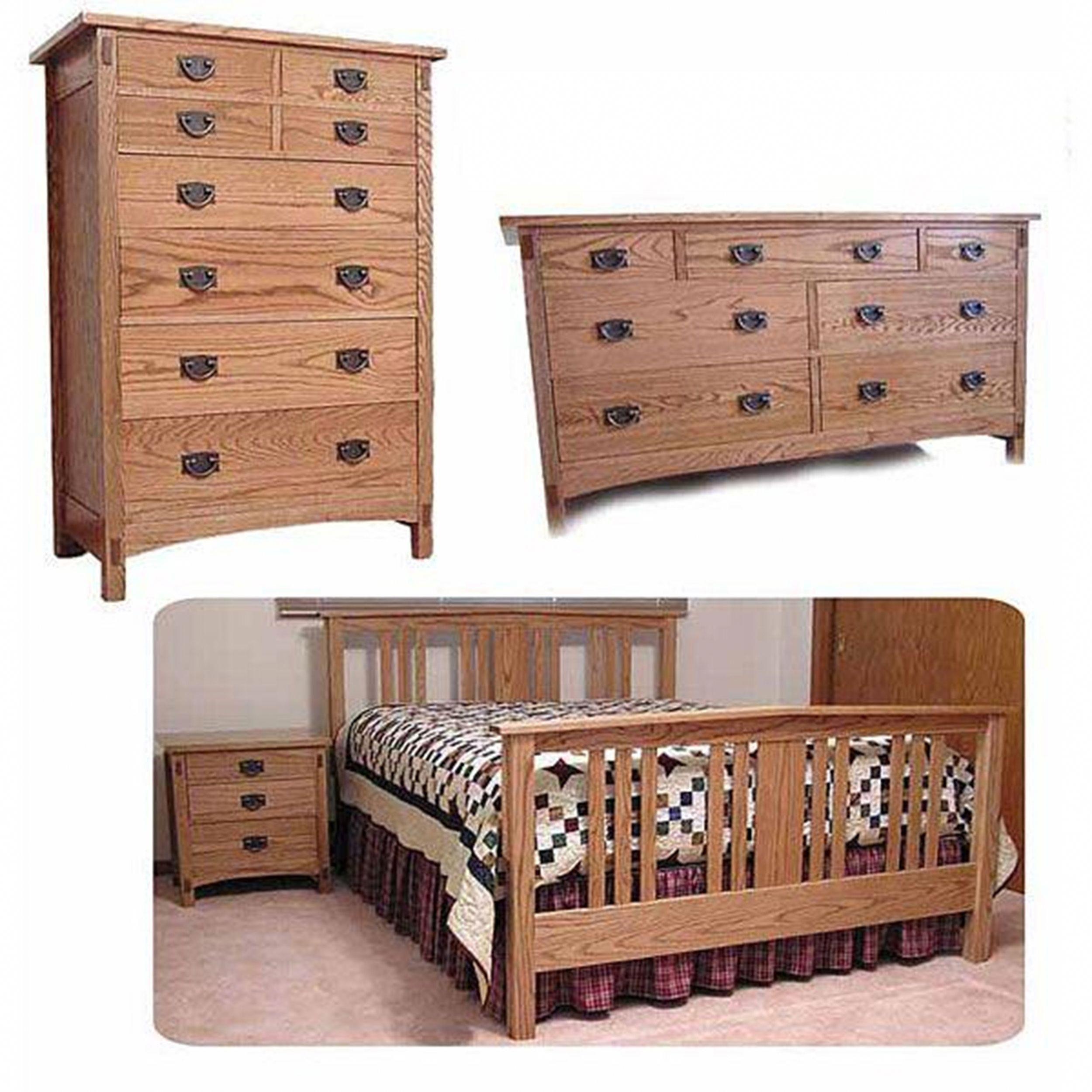 Mission Bedroom Woodworking Plan #WoodworkingPlansBed