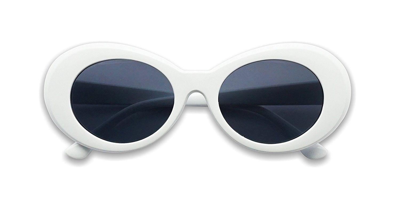 1a643694ed35 Colorful Oval Kurt Cobain Inspired Clout Goggles Mod Round Pop Fashion  Nirvana Sunglasses - White - CV17YZISHZX - Women's Sunglasses, Oval  #womenssunglasses ...