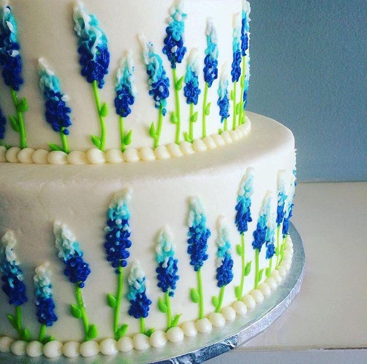 Bluebonnet Cake In 2019 Cupcake Cakes Buttercream Cake