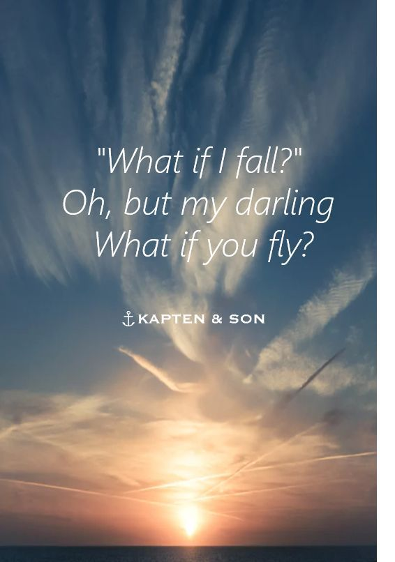 Flying Quotes Awesome What If I Fall Oh But My Darling What If You Fly  Quote  Words