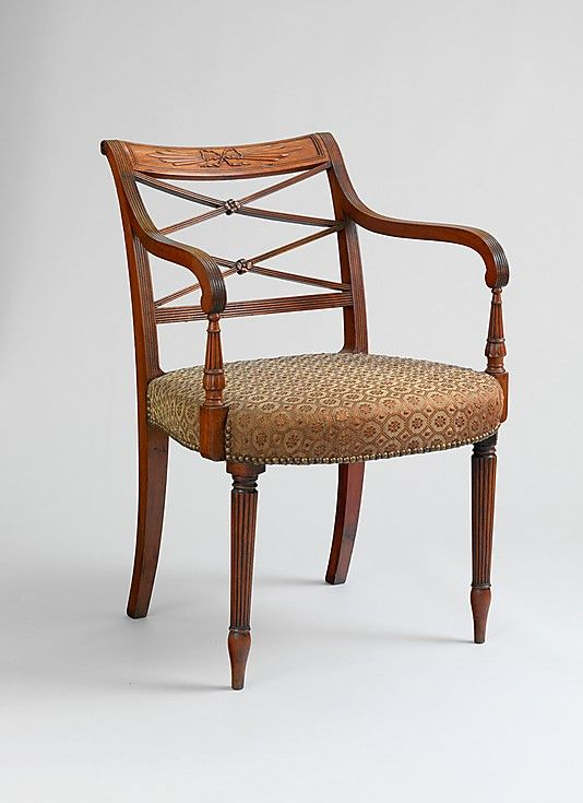 Delicieux Armchair Charles Honore Lannuier; Federalist Style C. 1810