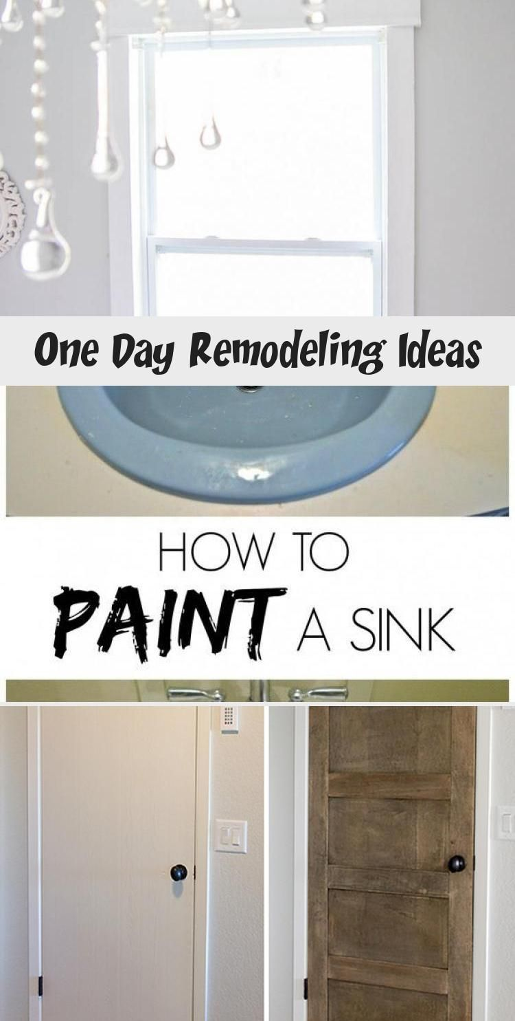 One Day Remodeling Ideas In 2020 Diy Home Improvement Diy Remodel Painting A Sink