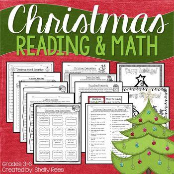 Christmas Reading & Christmas Math Worksheets
