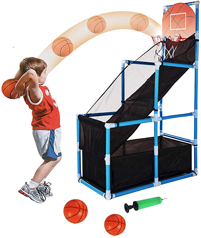 Amazon Com Tuko Kids Basketball Hoop Arcade Game Toy Toddler Toys Outdoor Indoor Basketball Basketball Games For Kids Golf Games For Kids Indoor Basketball