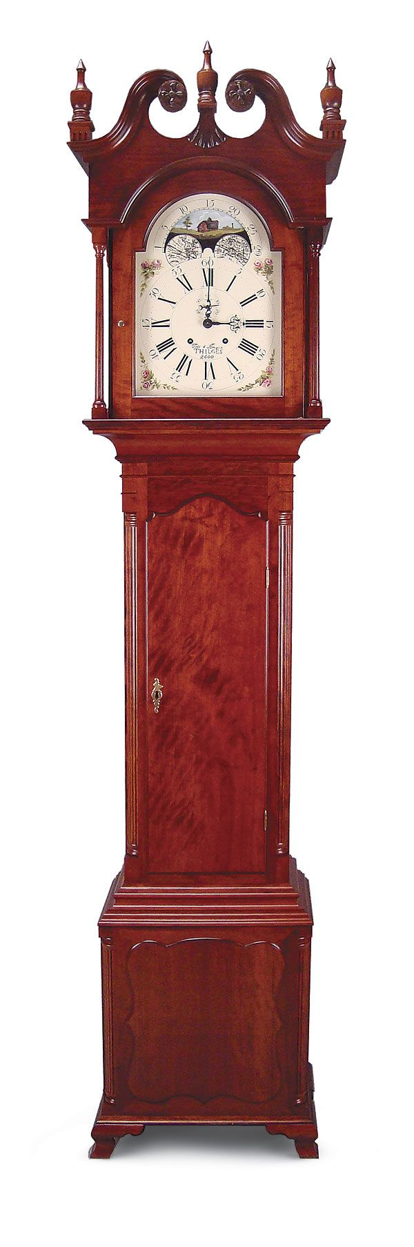 Winchester Tall Clock By Todd Thilges Thilges Started This Cherry Reproduction 12 In Deep By 22 In Wide By 96 In Clock Fine Woodworking Antique Wall Clock