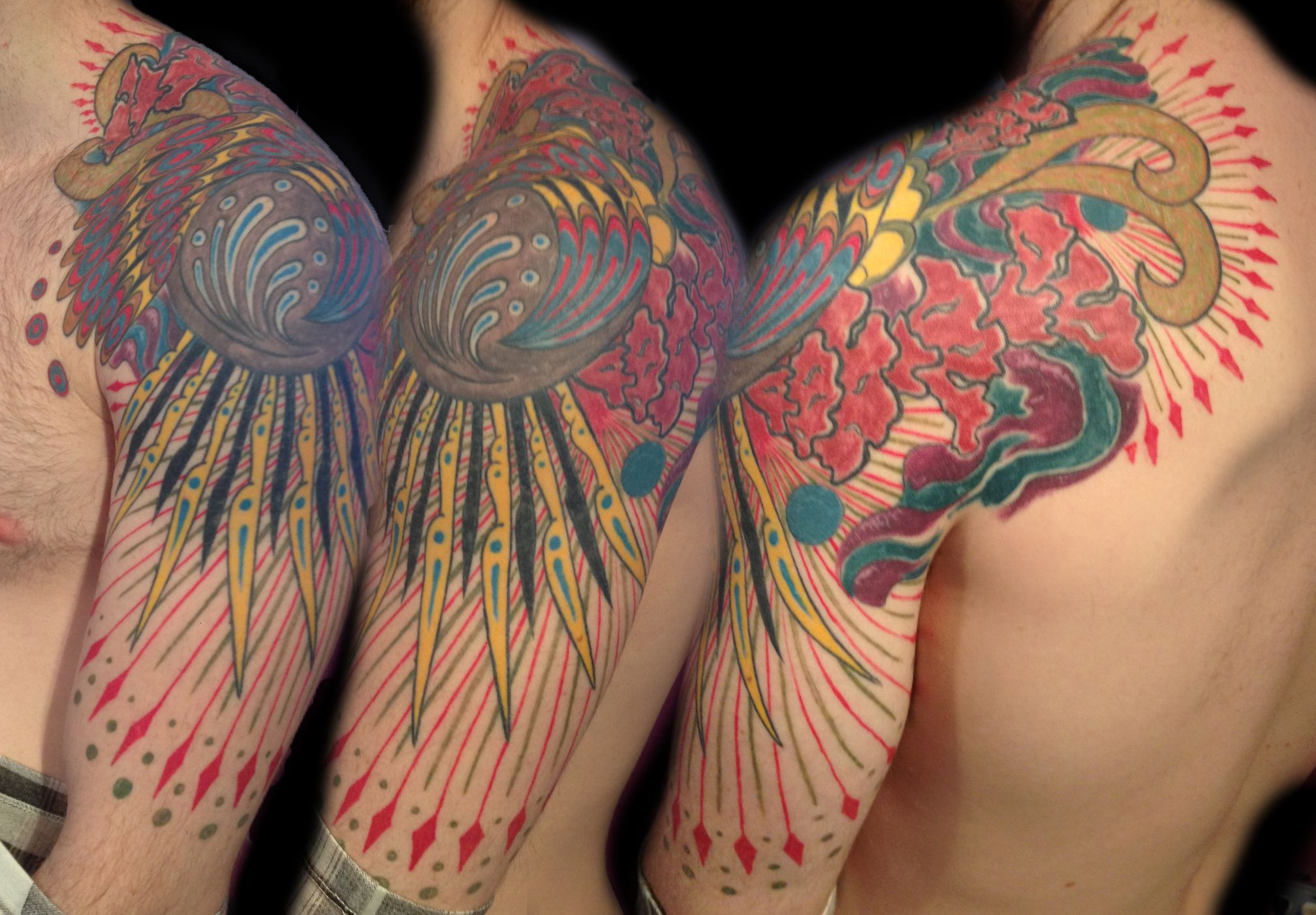 Admirable Fractal Psychedelic Tattoos Majestic Tattoo Nyc Trippy Short Hairstyles Gunalazisus