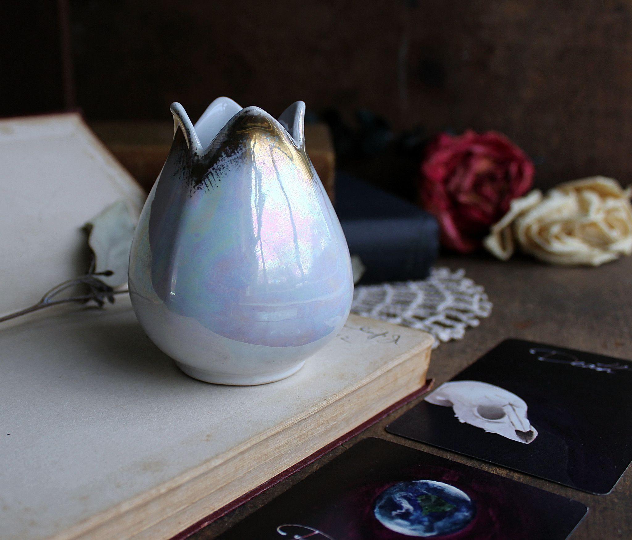 Ceramic Iridescent Vase