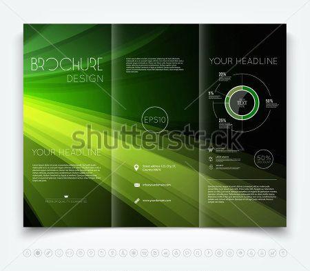 vector brochure layout design indesign