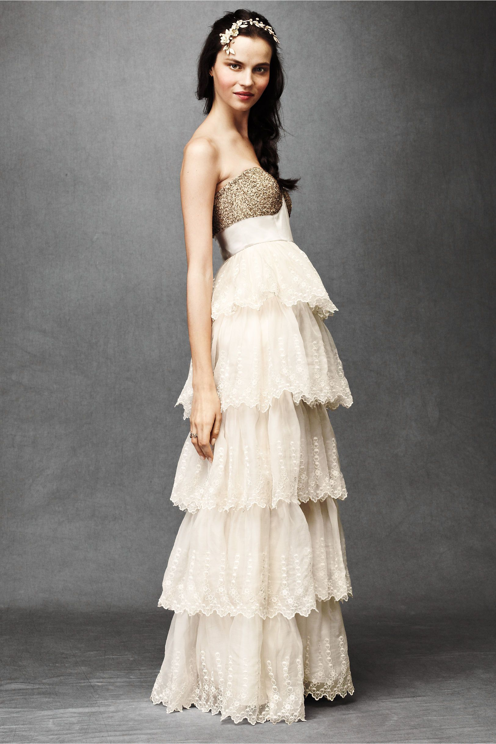Burnished Organza Gown From Bhldn If This Had Some Kind Of Straps It Would Be Practically Perfect: Practically Perfect Wedding Dress At Websimilar.org