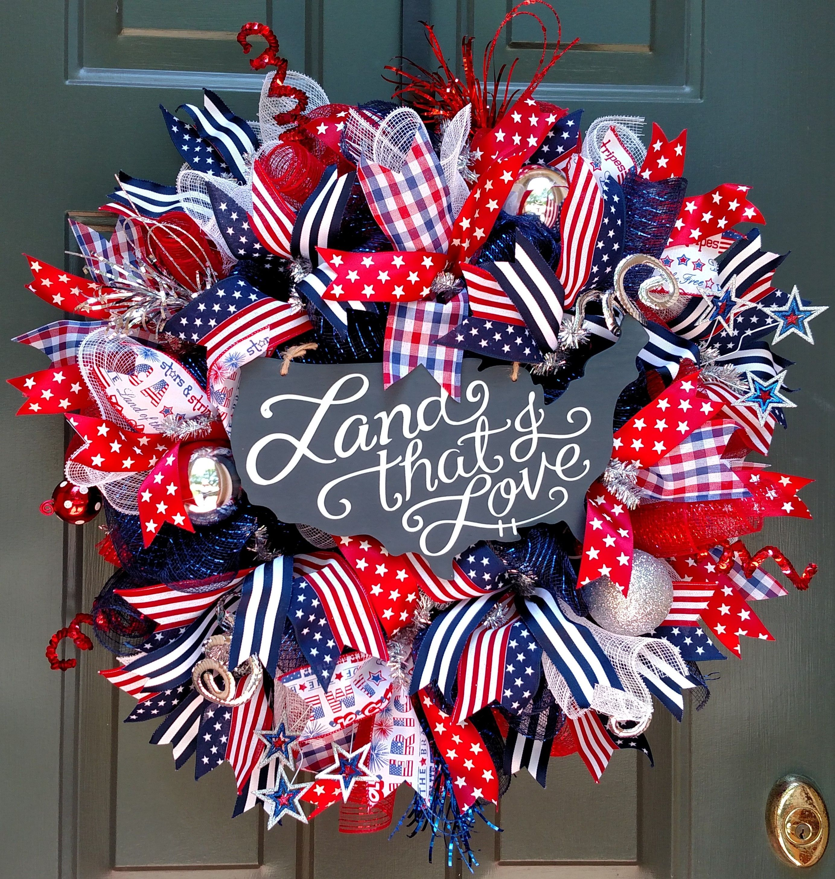 4th Of July Wreath For The Holiday House Trenton 4th Of July Wreath Fourth Of July Decor 4th