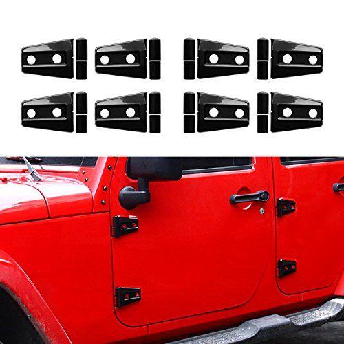 Icars Black Door Hinge Covers For 4 Door 2007 2017 Jeep Wrangler Jk