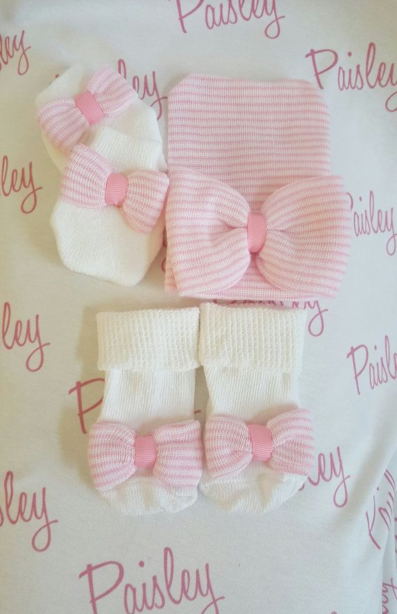 d113d48ef59 Newborn girl Hospital Gift Set. Newborn hat