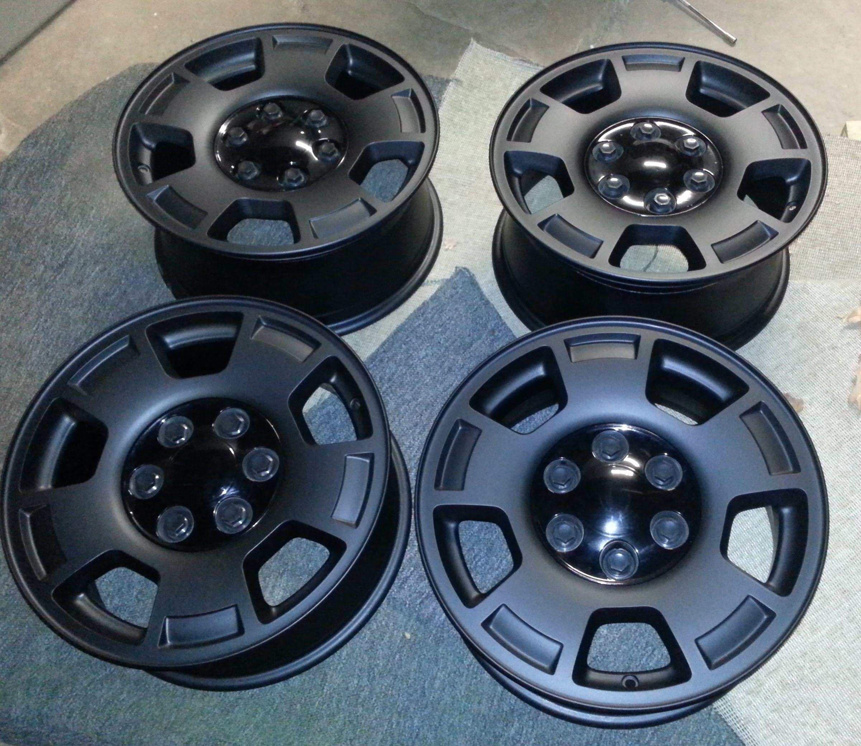 Matte Black Custom Powder Coated Rims http//www