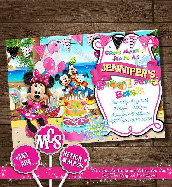 Minnie Mouse Invitation Beach Invitation Beach Alua Invitation