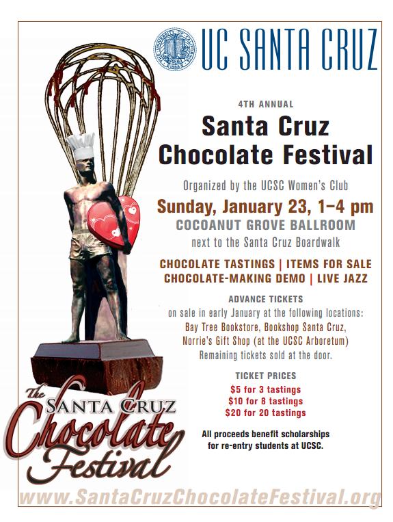 Santa Cruz Chocolate Festival! Save the date! #chocolate ...