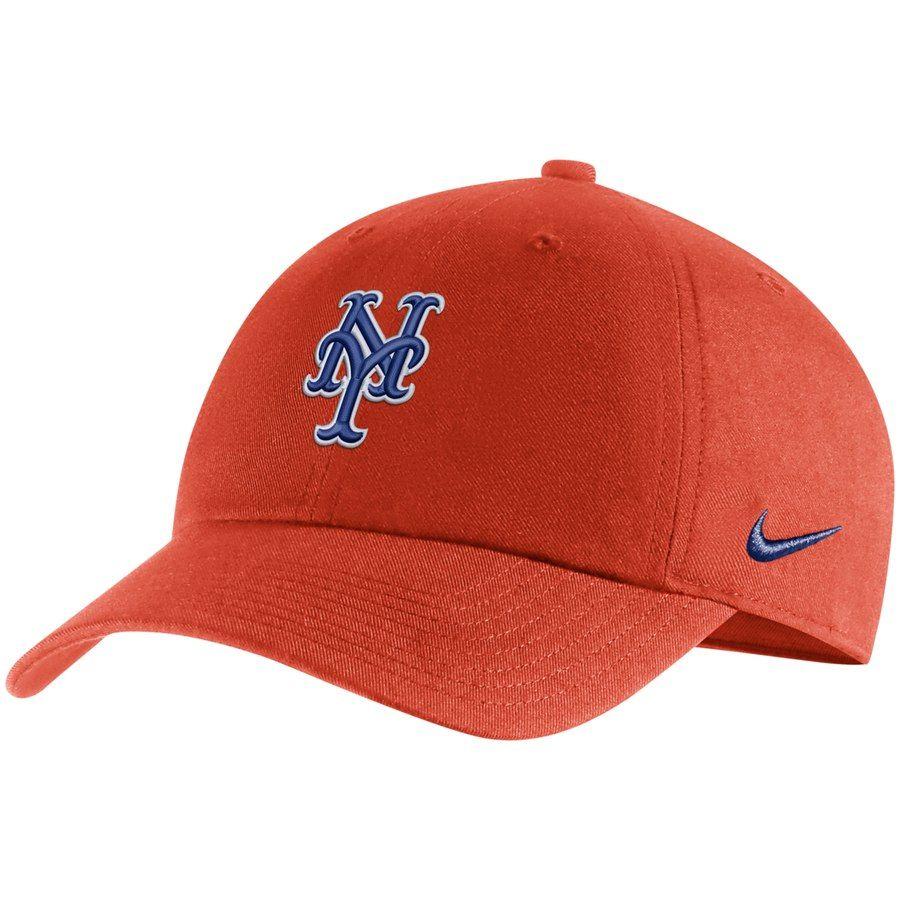 a34f4104 Men's New York Mets Nike Orange MLB Heritage 86 Adjustable Hat, Your Price:  $24.99