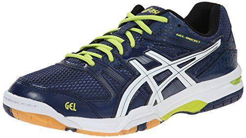 ASICS Men's Gel-Rocket 7 Volleyball Shoe, Navy/White/Lime, 9.5