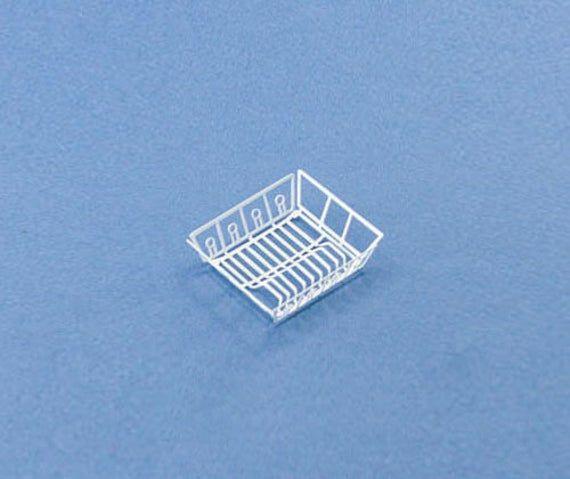 1:12 Scale Dollhouse Miniature White Kitchen Dish Drainer Drying Rack #WCKA185 #miniaturekitchen