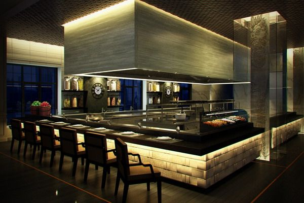 Show Restaurant Kitchen Design Image Professional Bar